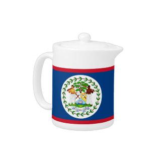 Belize-Flaggen-Teekanne