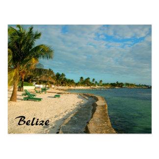 Belize-Strand-Postkarte Postkarte
