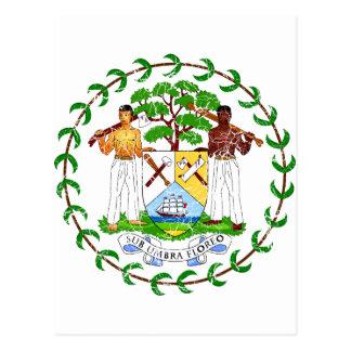 Belize-Wappen Postkarte