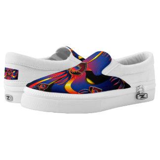 Belizische schwarze Orchideen-Schuhe Slip-On Sneaker