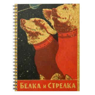 Belka und Strelka Notizblock
