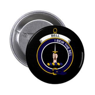 Bell - Clan-Wappen Runder Button 5,7 Cm