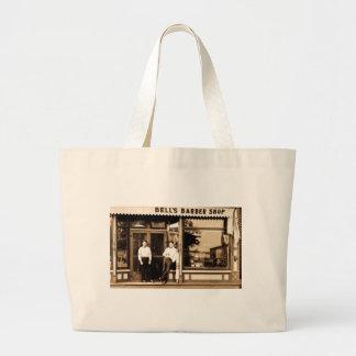 Bell Friseur-Geschäfts-Vintages Americana Einkaufstasche