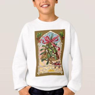 Bell-Mistelzweig-Stechpalmen-Weihnachtsvogel Sweatshirt