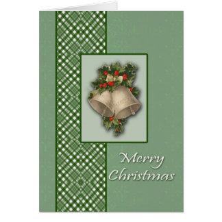 Bell und Bogen-Weihnachtskarte Karte