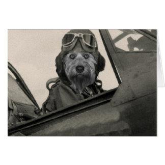 Bella als a-Vierzigerjahre Pilot Karte