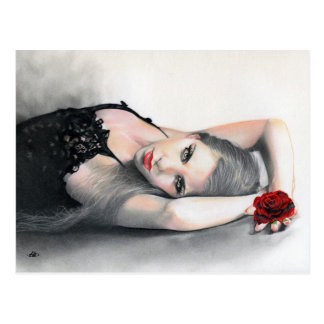 Bella Rosa Schönheits-Rote Rose Postkarte