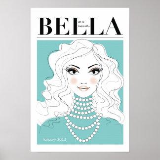 Bella Zeitschrift-Frau-Plakat Poster