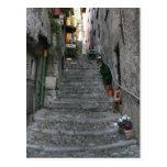 Bellagio, Italien ~ herauf Treppe Postkarten