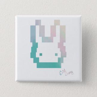 BelleBunny offizieller Logo-Knopf Quadratischer Button 5,1 Cm
