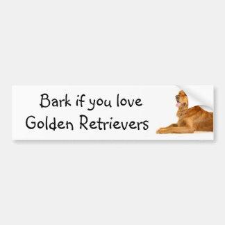Bellen Sie wenn Sie Liebe goldene Retriever Autoaufkleber
