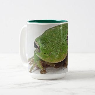 Bellender Frosch-Tasse Zweifarbige Tasse