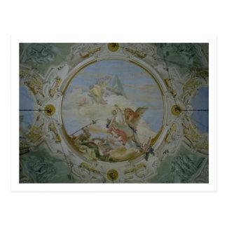 Bellerophon, das Pegasus, c.1746-47 (Fresko, Postkarte