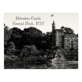 Belvedere-Schloss, Central Park NYC Postkarte