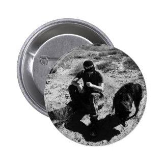 Bemannt bester Freund-Knopf Runder Button 5,7 Cm