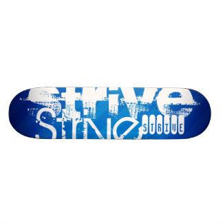 Bemühen Sie sich; Königsblau-Streifen 20,1 Cm Skateboard Deck