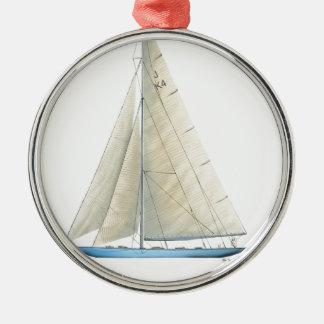 Bemühung 1934 silbernes ornament