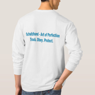 Bemühung Schutzhund Verein-Logo-langes T-Shirt