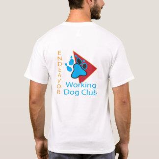 Bemühungs-Funktions-Hundeverein-Logo-kurzes T-Shirt