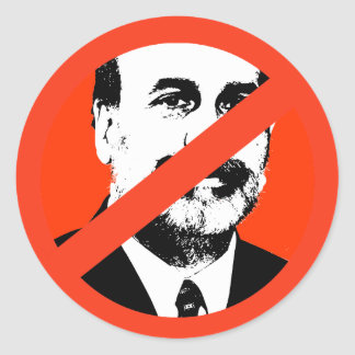 Ben Bernanke Runde Sticker