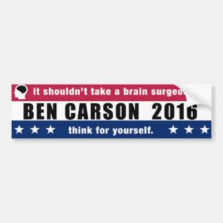 Ben Carson für Präsidenten 2016 denken für selbst Autoaufkleber