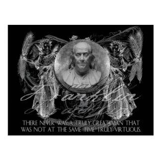Ben Franklin, ein Held, auf den großen und Postkarte