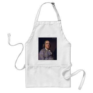 """Ben Franklin """"Liebe Thy Neibhbor aber."""" Schürze"""