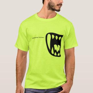 Benachteiligt-Sieg-Limones Grün mit schwarzen T-Shirt