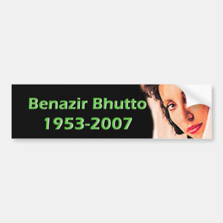 Benazir Bhutto Autoaufkleber