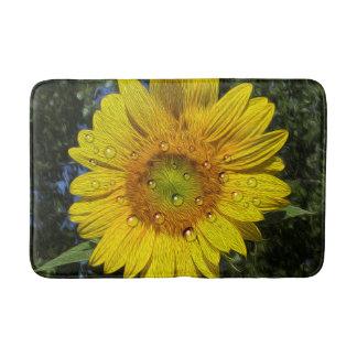Benetzte Sonnenblume-Bad-Matte Badematte