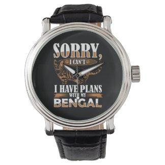 Bengalische Katze Uhr