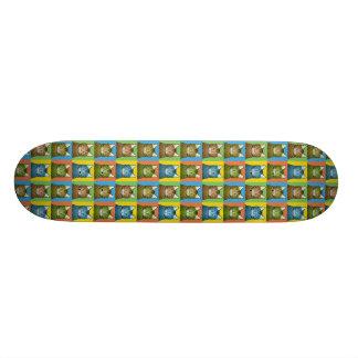Bengalische Katzen-Cartoon Pop-Kunst Skateboard Deck