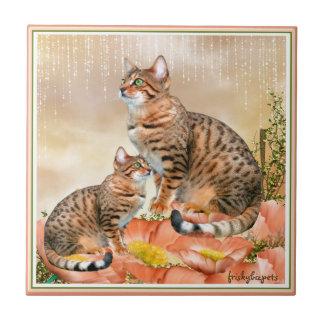 Bengalische Katzen-Geschenke Keramikfliese