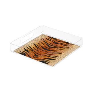 Bengalischer Tiger-Tier-Pelz Acryl Tablett