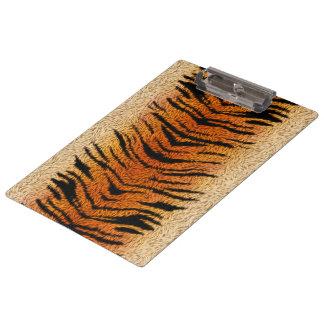 Bengalischer Tiger-Tier-Pelz Klemmbrett