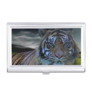 Bengalischer wilder Tiger-Kopfwatercolor-große Visitenkarten Etui
