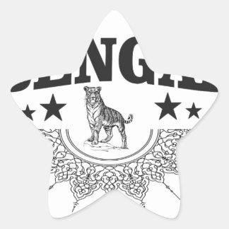 Bengalisches Land Stern-Aufkleber