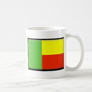 Benin-Flagge Kaffeetasse