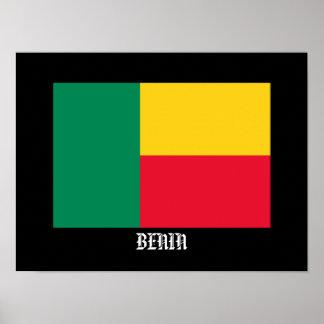 Benin - klassisches Flaggen-Plakat Poster