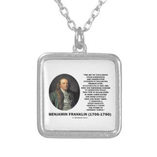 Benjamin Franklin, der Wahrscheinlichkeits-Zitat Versilberte Kette