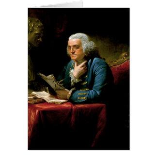 Benjamin Franklin durch David Martin im Jahre 1767 Karte