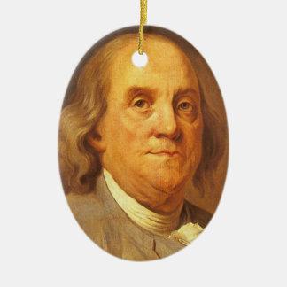 Benjamin Franklin Keramik Ornament