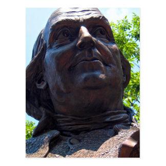 Benjamin Franklin-Statue Postkarte