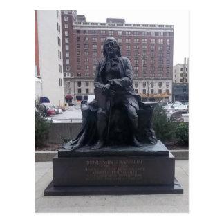 Benjamin Franklin-Statuepostkarte Postkarte
