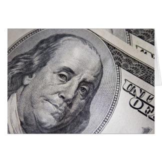 Benjamin Franklin stellen gegenüber Karte