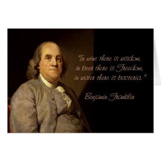 Benjamin Franklin-Zitat-Geburtstagskarte Karte