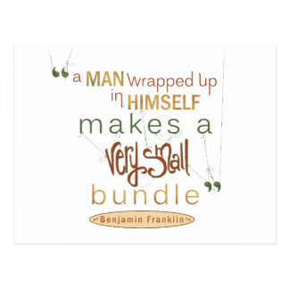 Benjamin Franklin-Zitat sehr kleines Bündel Postkarte