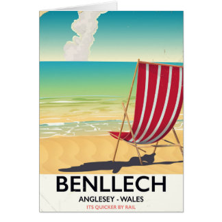Benllech, Anglesey Wales Vintages Reiseplakat Karte