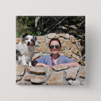 Bennett - australisches Mini - Rosie - Carmel Quadratischer Button 5,1 Cm