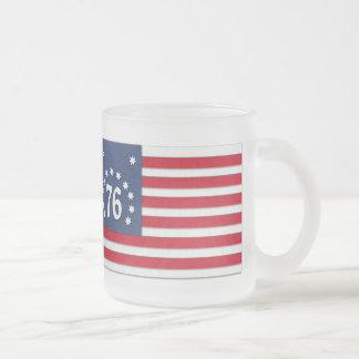Bennington-Flaggen-Tasse Matte Glastasse